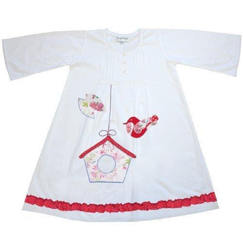100% Baumwolle, Langarm, Powell Craft Damen Nachthemd Bonnie