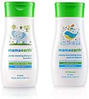 Mamaearth Gentle Cleansing Shampoo for babies (200 ml, 0-5 Yrs) and Mamaearth Deeply nourishing wash for babies (200 ml, 0-5