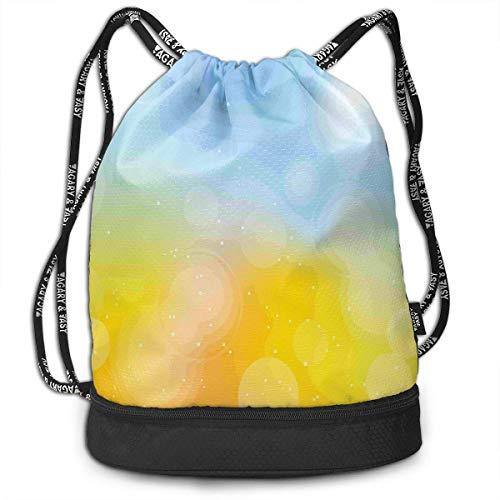 MSGDF Autumn Season Frame Color Drawstring Bag Backpack Bundle Backpack
