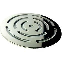 Rejilla redonda de 11,5 cm en acero inoxidable para platos de ducha de resina,pizarra,mármol,piedra