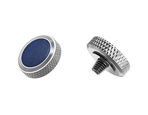Ergonomischer Auslöser *Kupfer & Kunstleder* Auslöseknopf Soft Release Button für Fuji Fujifilm xt20 x 100f xt10 x-t2 x-pro2 x-pro1 X 100 X100s x100t x30 x 20 x10 x-e3 x-e2s (SRB-GR Blue)