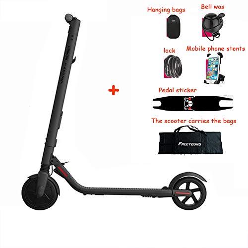 TOOSD Ninebot Nr. 9 Elektroroller ES2 für Erwachsene, tragbares Zweiradklappsystem, Geschwindigkeit bis zu 25 km/h, Batterie 187WH, LED-Digitalanzeige, Last 100 kg, Hoverboard-Skateboard