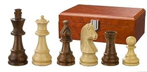 Philos 2052 Titus - Piezas de ajedrez (Altura del Rey 83 mm, en Caja), Color marrón