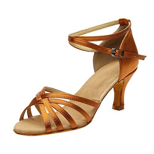 MORETIME Sandali Donna Tacco,Moda di Colore delle Donne Rumba Waltz Prom Ballroom Latino Salsa Scarpe da Ballo Sandali