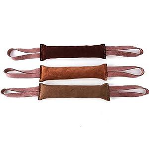 Doux Chien de Formation en Cuir Bite Stick Double poignée de Travail Chiens de Chien Mordre pour Prendre Le Jouet de Chien de Formation.