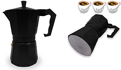 Italian Espresso Stove Top Coffee Maker Pot 3 Cup Black