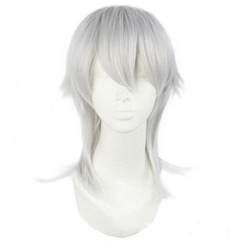 MäNner Anime COSPLAY PerüCke Silber Grau Lange (Männer Chinesische Für Tanz Kostüme)