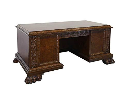 Antike Fundgrube Schreibtisch Büromöbel Schreibmöbel Antik 1930 Nussbaum/Wurzelholz B: 185 (8922)