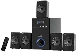 AEG SLS 4712 5,1 Lautsprecher-System (500 Watt, USB Port) schwarz