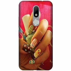 Printland Designer Back Cover For Moto M - nail art Designer Cases