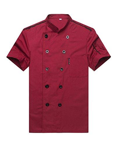 Kochjacke Langarm Rot