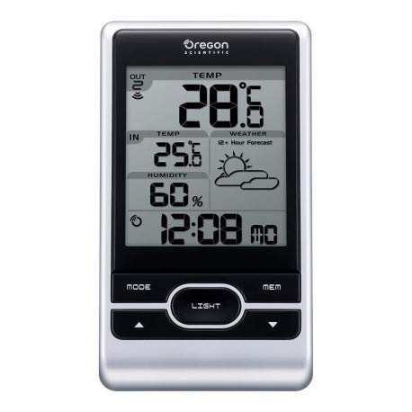 Oregon Scientific OSBAR206X - Stazione meteorologica Wireless, Colore: Argento
