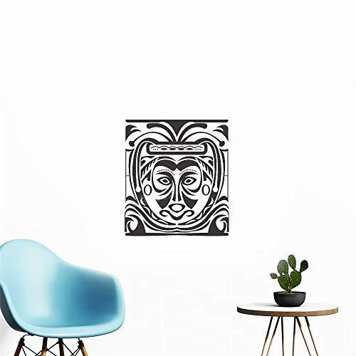 Wandtattoo Schlafzimmer Geheimnisvolle Stammes-Maske Malerei Decals Home Decor für Wohnzimmer Schlafzimmer