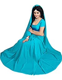 Krishna Emporia Women's Georgette Saree With Blouse Piece (Krishna Emporia Okhi Saree 445_Sky Blue)