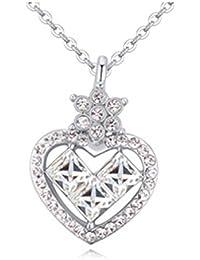 Manufacturer2Crystal cadena chapado en platino de forma de corazón colgante de collar con Elementos de Swarovski 17
