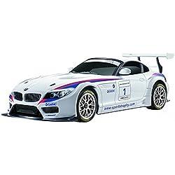 Cartronic RC BMW Z 4GT3en Blanco, maqueta de Coche teledirigido a Escala 1:24, Alcance inalámbrico 15m, con luz, emisor Manual y dirección Ajustable de Forma precisa