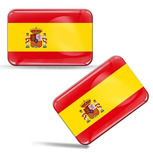 2 pcs 3D Gel Pegatinas Bandera Nacional España Spain