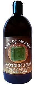 Bulles de Marseille Savon Noir Liquide Fabriqué à l'Ancienne à l'Huile d'Olive 1 L