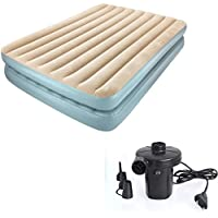 IBS BESTWAY Comfort Quest 2 Person Double Inflatable Bed  (Beige, Grey)