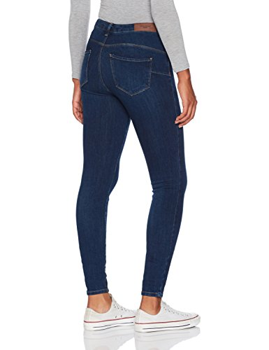 VERO MODA Damen Slim Jeans Blau (Dark Blue Denim)