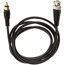 BNC Macho A conector Jack Adaptador de Cámara de Vídeo Av Tv Alambre del Cable conector RCA