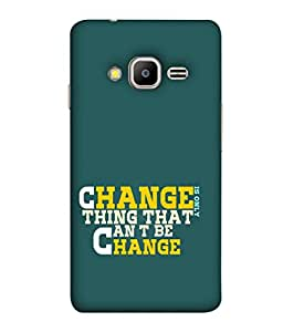 FIOBS Change Is Only Thing That Can't Change Quote Designer Back Case Cover for Samsung Galaxy Z2 TIZEN