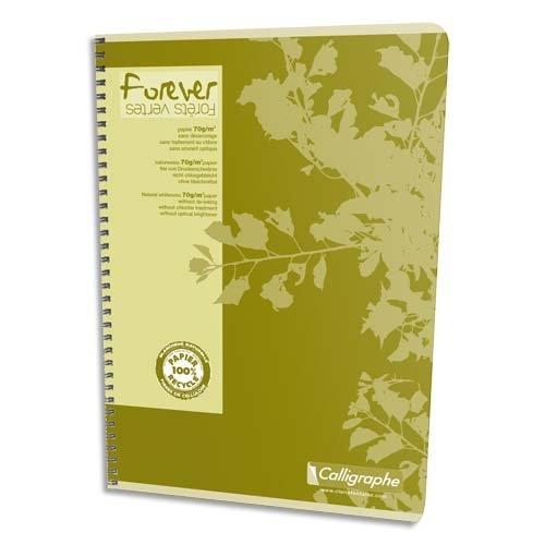 Cuaderno Clairefontaine Forever A4 cuadrícula 90 hojas Colores surtidos