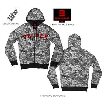 Eminem - - Herren Camo Kapuzenpullover In Grey Camo, XX-Large, Grey Camo