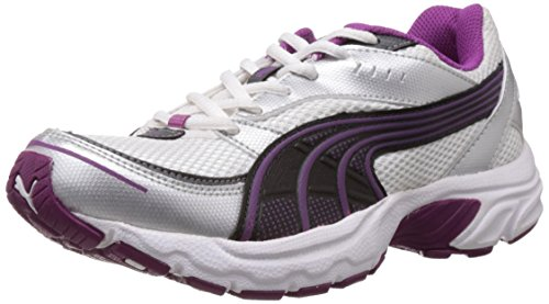 Puma Women's Axis II Wn s DP White and Fuschia Purple Running Shoes - 3 UK/India (35.5 EU)  available at amazon for Rs.1538