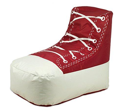 Shoe Kinder Sitzsack Sitzkissen Rot / Weiß in Schuhform