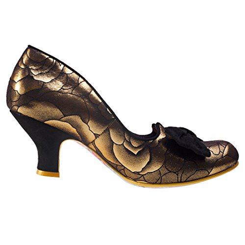 Irregular Choice Damen Dazzle Razzle Pumps Gold Black