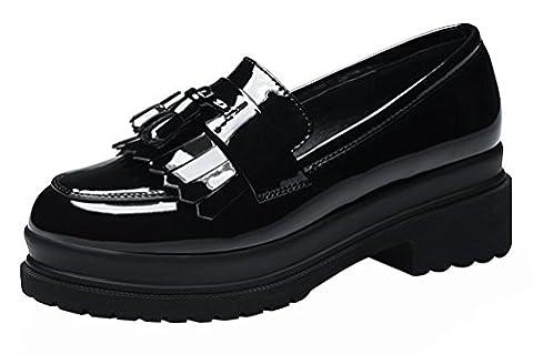 F&Q Real , Sandales pour femme - Noir - noir,