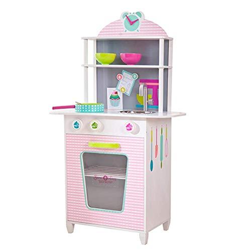 Pink Papaya - Kinder Spielküche aus Holz, Spielzeug-Küche für Jungen und Mädchen (Spielzeug Küche Mädchen)