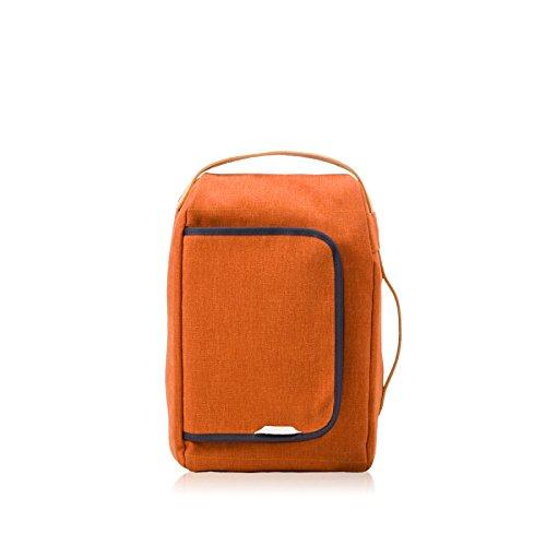 rawrow Fashion Schule Rucksack Schultasche R Tasche 200Mini Wachs Leinwand orange Orange (Grau Slinky)