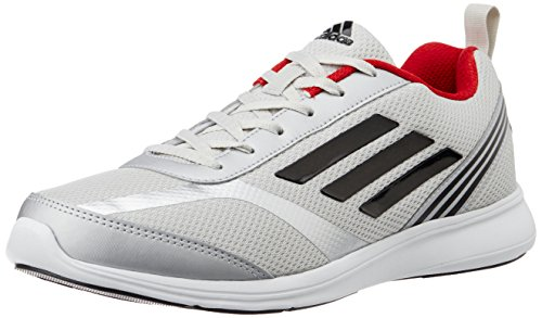 adidas Men's Adiray M Silver, Black and Red Running Shoes - 7 UK