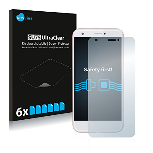 Savvies Schutzfolie für ZTE Blade A512 [6er Pack] - klarer Bildschirmschutz