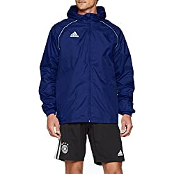 adidas Men's Core 18 Rain Jacket, Dark Blue/White, X-Large