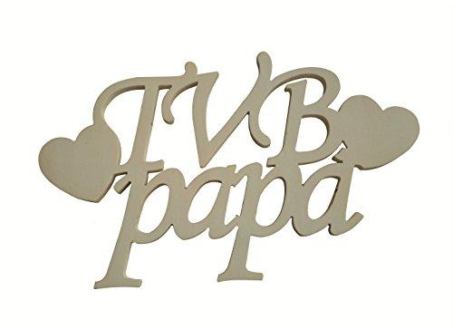 Scritta in legno dedicata al papa'