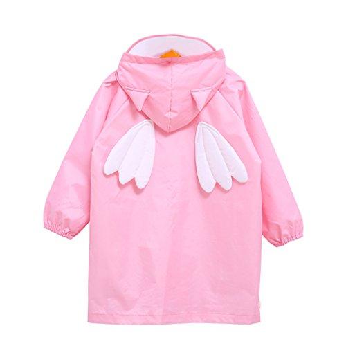 Enfants Combinaisons de Pluie Cape de Pluie Poncho Imperméable Poncho à Capuche Réutilisable Veste de Pluie, M/Pour 4-6 Ans