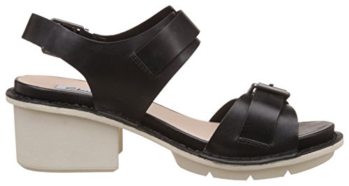 Clarks - Hexton Glitz, Sandali Donna Nero (Black Leather)