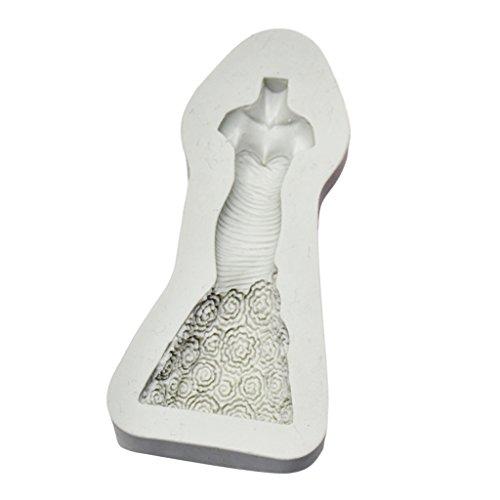 Dolity Brautkleid Form Blume Ausstechformen Fondant Kuchen Dekoration Backform , weiß