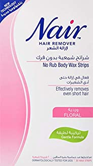 Nair Hair Removal Body Wax Strips - Floral Fragrance, 20 Wax Strips