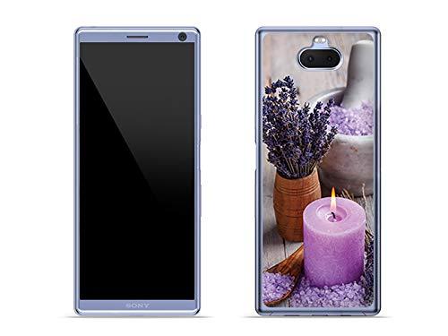 etuo Sony Xperia XA3 Ultra - Hülle Foto Case - Lavendel-Spa - Handyhülle Schutzhülle Etui Case Cover Tasche für Handy