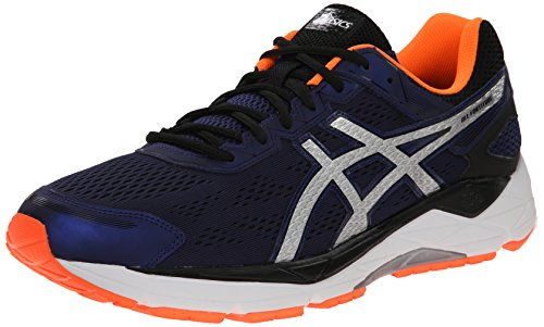 Asics GEL-Fortitude 7 Synthétique Chaussure de Course Indigo Blue / Silver / Orange