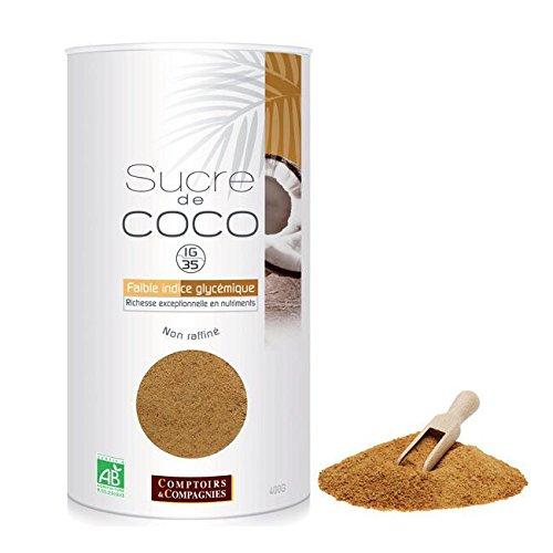 Sucre de coco bio non raffiné - 400gr