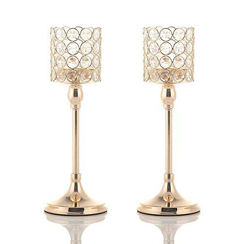 der Kristall Kerzenständer gesetzt für Hochzeit Feier Wohnzimmer Dekor Bar Party Dekoration,30cm&30cm Höhe ()