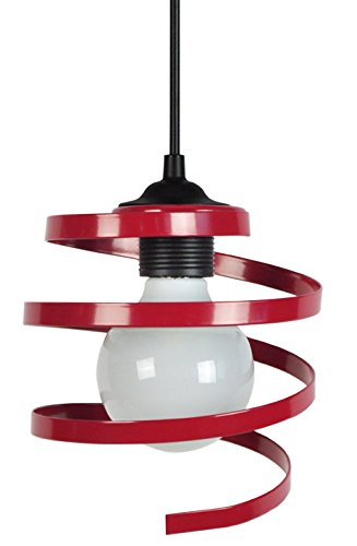 tosel-11535-suspension-karol-acier-40-w-e27-rouge