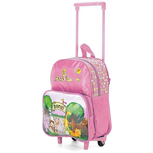 Imagen de  infantil trolley carro de niños  preescolar con ruedas zoo/rosa