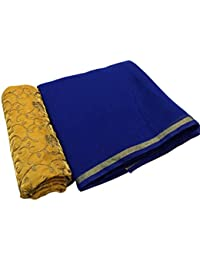 High Glitz Fashion Women's Party Wear Blue Color Chanderi Cotton Sarees For Women Latest Design Sarees New Collection...