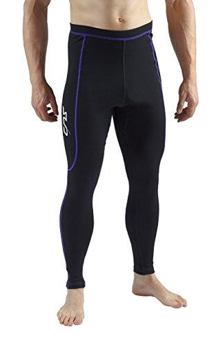 Base Layer Thermo Boden (Sub Sports Herren Leggings/Base Layer, mit Merinowolle schwarz Schwarz/Violett xs)